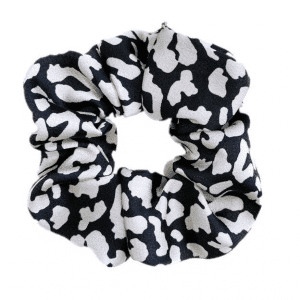 Scrunchie Luipaard Zwart wit