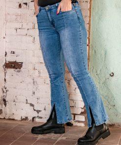 Front split jeans