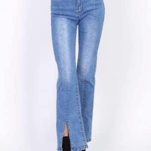 Jeans front split